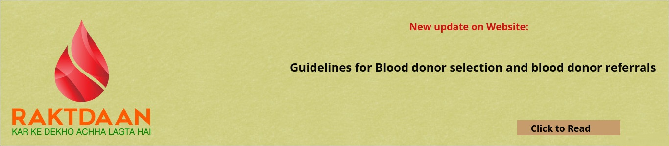 Guidelines for Blood Donor referrals