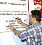 PD signing on Hyderabad Declaration